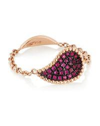 Diane Kordas | Pink Teardrop 18karat Rose Gold Sapphire Ring | Lyst