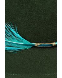 Eugenia Kim | Green Harper Feather Trimmed Wool Felt Fedora | Lyst