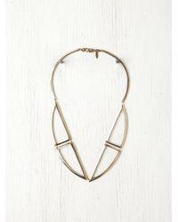 Free People - Metallic Bentuk V Bronze Necklace - Lyst