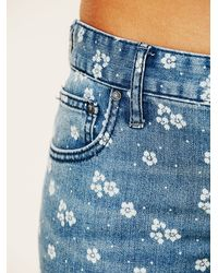 Free People - Blue Shower Me With Flowers Jeans - Lyst