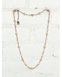 Free People | Multicolor Vintage Costume Bead and Pearl Necklace | Lyst