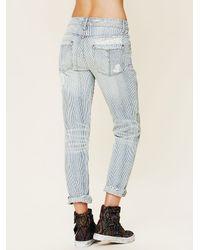 Free People | Blue 5 Pocket Slim Slouch Jeans | Lyst