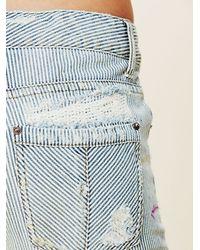Free People   Blue 5 Pocket Slim Slouch Jeans   Lyst