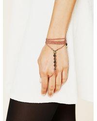 Free People | Pink Beaded Tassel Handpiece | Lyst