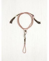 Free People - Pink Beaded Tassel Handpiece - Lyst