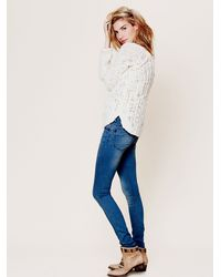 Free People | Blue Shower Me With Flowers Jeans | Lyst
