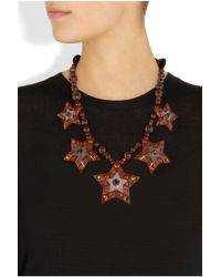 Lanvin | Metallic Swarovski Crystal Star Necklace | Lyst