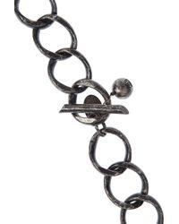 Lanvin - Metallic Crystal Heart Necklace - Lyst