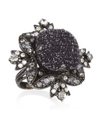 Lanvin | Metallic Swarovski Crystal Ring | Lyst
