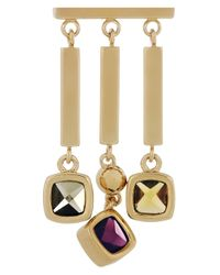 Marc By Marc Jacobs - Metallic Ice Cubes Crystal Drop Earrings - Lyst