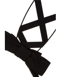 Mimi Holliday by Damaris - Black Ribbon and Wire Bunny Ears Headband - Lyst