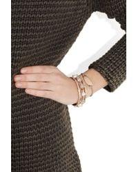 Monica Vinader - Black Linear Diamond Chain Bracelet - Lyst