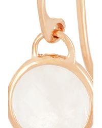 Monica Vinader - White Mini Luna 18karat Rose Gold Vermeil Moon Stone Earrings - Lyst
