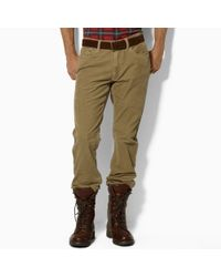 Polo Ralph Lauren | Natural Five-Pocket Straight Fit Cords for Men | Lyst