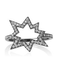 Solange Azagury-Partridge | Metallic Big Bang 18karat Blackened White Gold Diamond Ring | Lyst