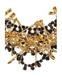 Tom Binns - Metallic Love Of God Goldplated Swarovski Crystal Necklace - Lyst
