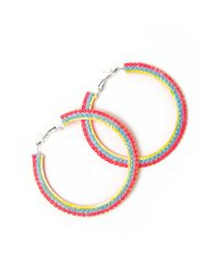 Tom Binns - Multicolor Pinata Hoop Earring - Lyst