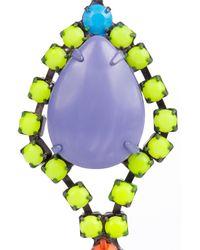 Tom Binns | Multicolor Riri Painted Swarovski Crystal and Stone Earrings | Lyst