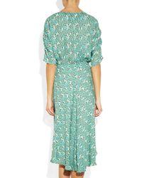 Tucker - Green Market Printed Silkgeorgette Dress - Lyst