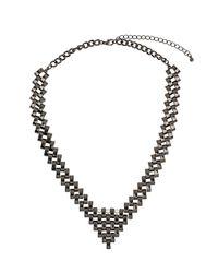 TOPSHOP - Metallic Pearl V Tip Collar - Lyst