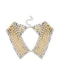 TOPSHOP | Metallic Pyramid Peter Pan Necklace | Lyst