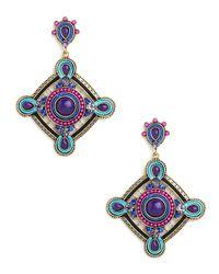 BaubleBar | Multicolor Violet Reina Drops | Lyst