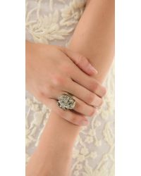 Citrine by the Stones - Gray Pyrite Ring - Lyst