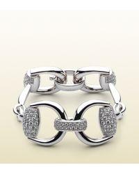 Gucci | Metallic Horsebit Bracelet | Lyst
