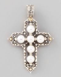 Konstantino | White Kassandra Medium Cross Enhancer | Lyst