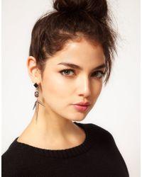 ASOS - Gray Triple Spike Drop Earrings - Lyst