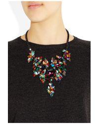 Erickson Beamon - Multicolor Gunmetal and Goldplated Swarovski Crystal Necklace - Lyst