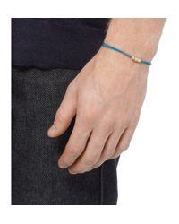 Luis Morais | Blue Gold and Cord Symbol Bracelet for Men | Lyst
