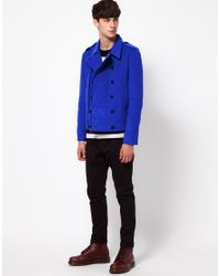Unconditional - Blue Pea Coat for Men - Lyst