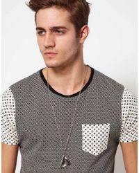 ASOS | Multicolor Asos Mixed Metal Triangle Necklace for Men | Lyst