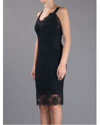 Dolce & Gabbana | Black Lace Detail Dress | Lyst