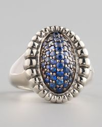 Lagos | Muse Pave Blue Sapphire Ring | Lyst