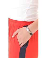 Marc By Marc Jacobs - Black Leather Standard Supply Id Bracelet - Lyst