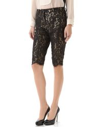 Robert Rodriguez | Black Lace Knee Shorts | Lyst