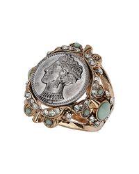 TOPSHOP | Metallic Queen Coin Ring | Lyst