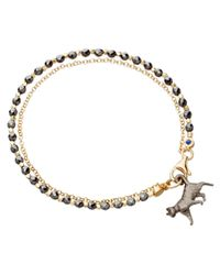 Astley Clarke | Gray Lucky Cat Friendship Bracelet | Lyst