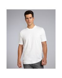 James Perse - White Crew-Neck T-Shirt for Men - Lyst