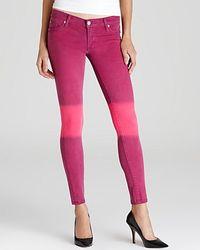 Retrosuperfuture   Purple Hudson Jeans Krista Ombre Skinny   Lyst