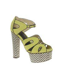ASOS | Yellow Helix Platform High Sandal | Lyst