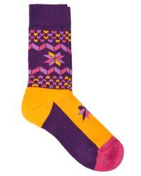 Happy Socks - Purple Snowflake Socks - Lyst