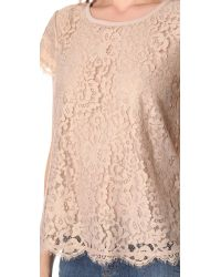 Joie - Pink Marella Metallic Lace Top - Lyst