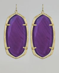 Kendra Scott | Danielle Earrings Purple Agate | Lyst