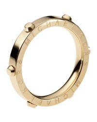 Michael Kors - Metallic Astor Stud Ring Golden - Lyst