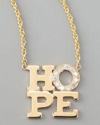 Zoe Chicco - Metallic Pave Diamond Hope Pendant Necklace - Lyst