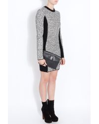 Alexander Wang   Gray Wool Blend and Rubberized Tweed Mini Dress   Lyst