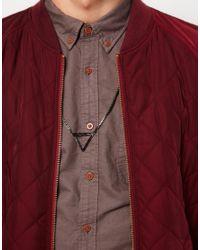ASOS - Black Asos Triangle Necklace for Men - Lyst